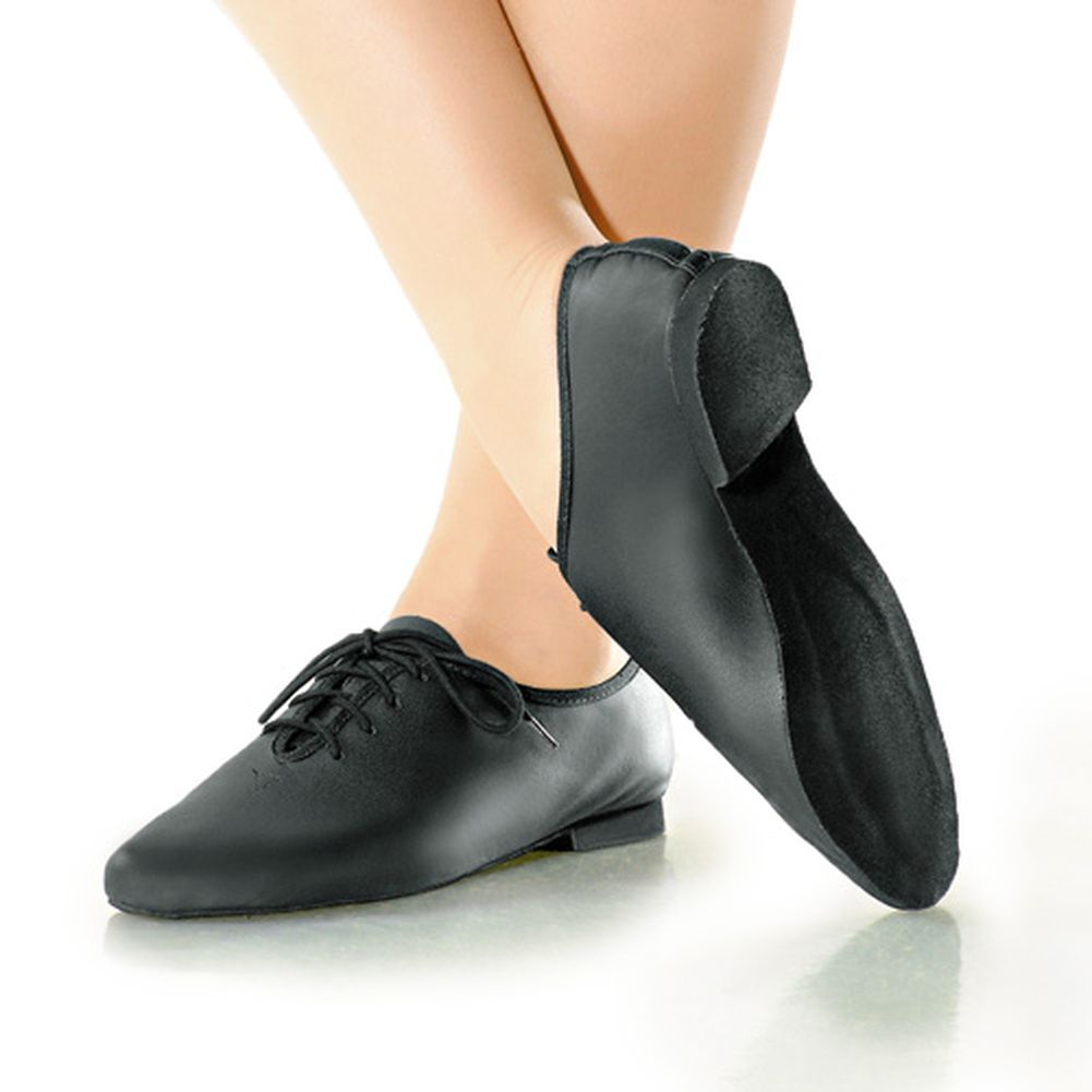 So Danca Little Girls Black Soft Leather Lace Jazz Dance Shoe 11