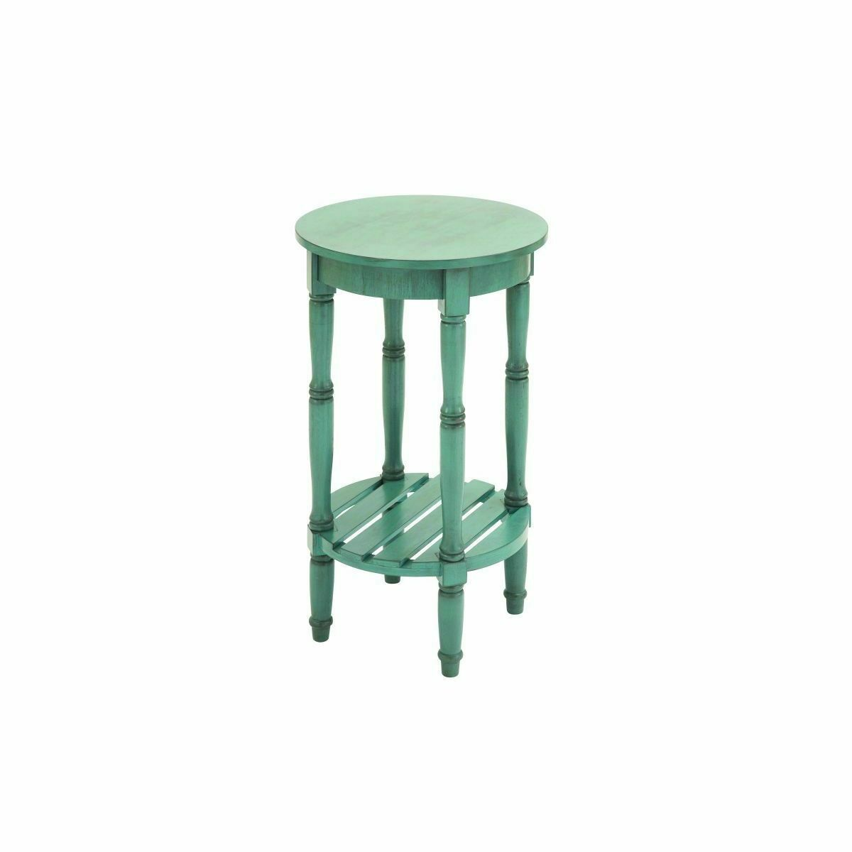 Wood Round Accent Table (16 inches wide x 29 inches high