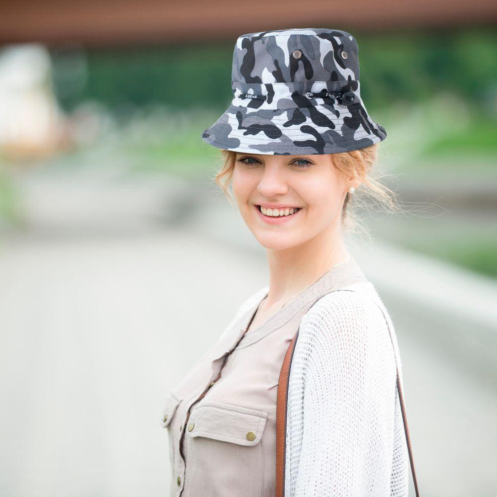 3c0ed3bb Zodaca Men Women Camouflage Unisex Summer Bucket Hats Hunting Fishing  Fisherman Outdoor Cap Sun Hat - Black | Walmart Canada