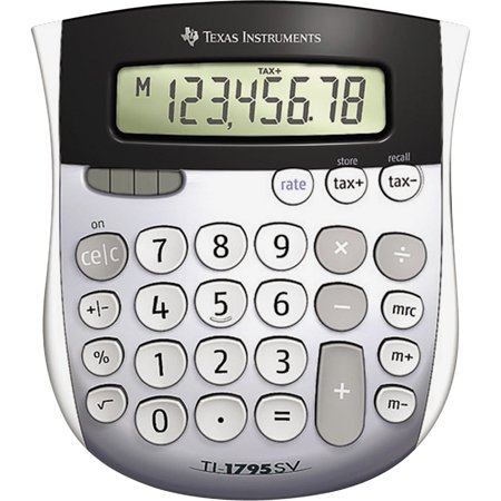Texas Instruments TI1795 Angled SuperView Calculator, Gray