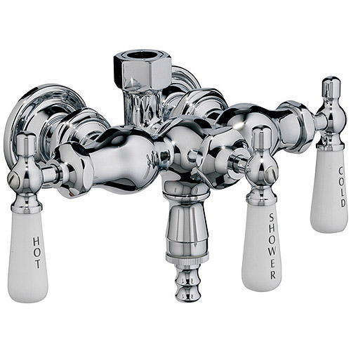Barclay Leg Tub Diverter Faucet for Cast Iron Tub with Old Style Spigot
