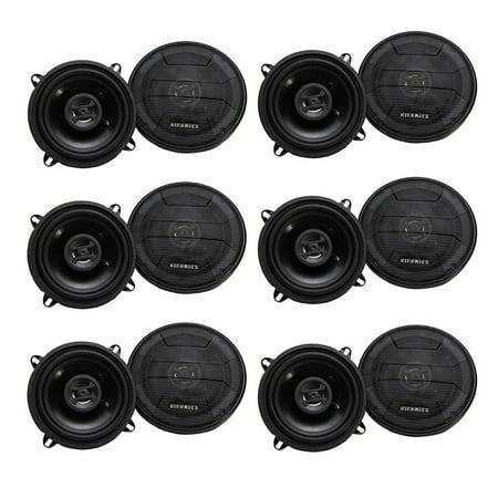 Hifonics Zeus 200 Watt 5 25 Inch 2 Way 4 Ohm Car Audio Coaxial Speakers (6  Pack)