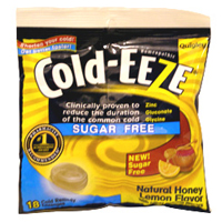 Quigley Cold-Eeze Sugar Free All Natural Honey Flavor Cold Drop Lozenges - 18 Drops