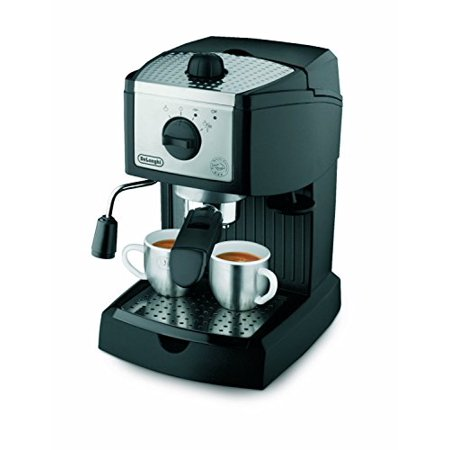 Best DeLonghi EC155 15 BAR Pump Espresso and Cappuccino Maker with Coffee Measure, Knox Milk Frother, Two 3 oz Ceramic Tiara Espresso Cups and Saucers, and Frothing Pitcher deal