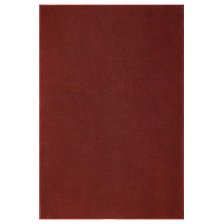 Outdoor Burgundy area rugs 5'x8' Oval for patio, porch, deck, boat, basement, garage, party, event, wedding tents and more with a low pile height ()