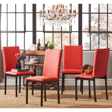 iNSPIRE Q Darcy Metal Upholstered Dining Chair (Set of 4 ...