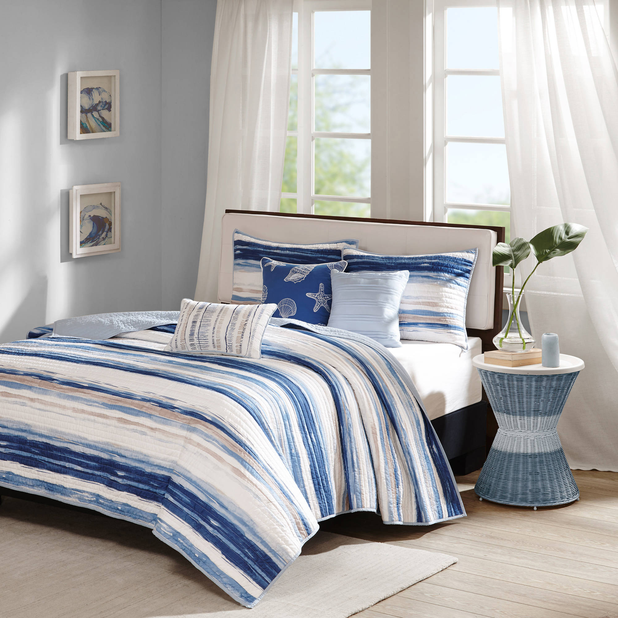 Click here to buy Home Essence Fairbanks Quilted Coverlet Set by E&E Co..