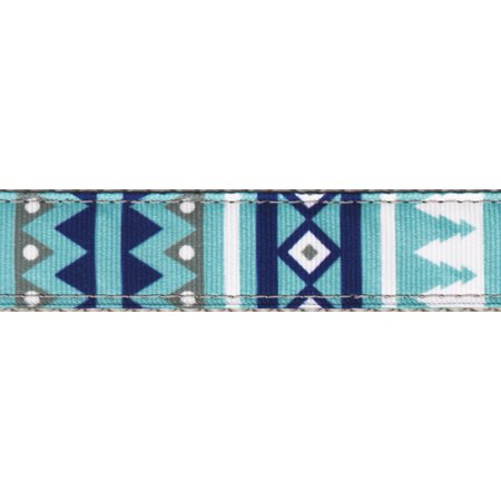 Country Brook Design 3 4 Inch Snowy Pines Ribbon Double Sided Leash 6