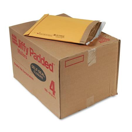 Sealed Air Jiffy Padded Peel & Seal Mailer, #4, 9 1/2 x 14 1/2, Natural Kraft, 100/Carton -SEL67320 - Jiffy Padded Bags