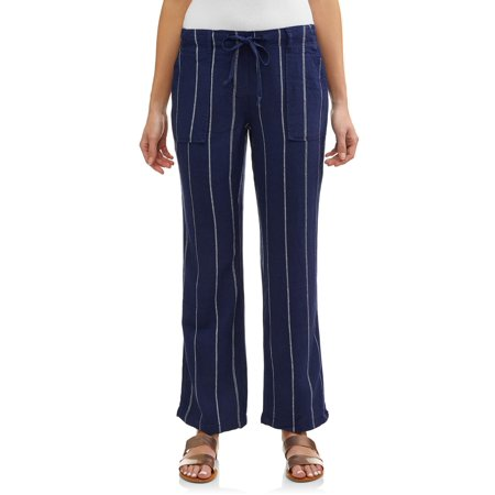 Women's Soft Linen Stripe Pants