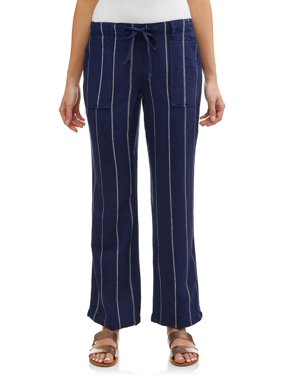 158de7a033e676 Product Image Women's Soft Linen Stripe Pants