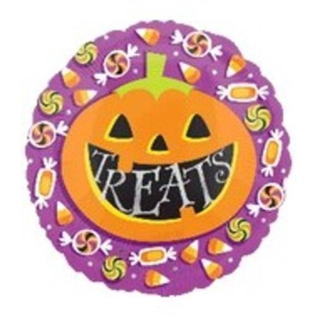 18'' Halloween Pumpkin Treats Balloon - Pumpkin Balloons