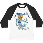 Metallica Men's  Doris Baseball Jersey Multi-color
