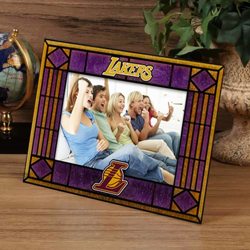 Los Angeles Lakers Purple Art-Glass Horizontal Picture Frame - No Size
