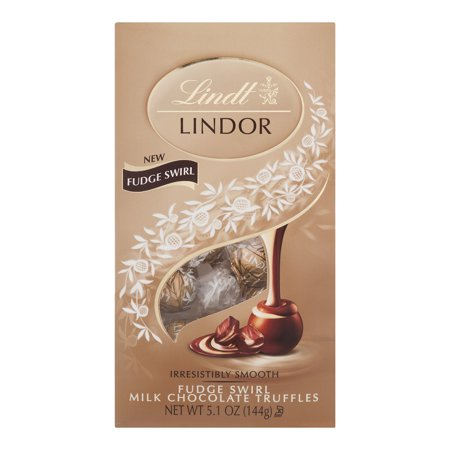 Lindt Lindor Fudge Swirl Milk Chocolate Truffles, 5.1 Oz.
