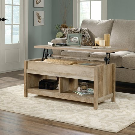 - Sauder Cannery Bridge Lift Top Coffee Table, Lintel Oak Finish