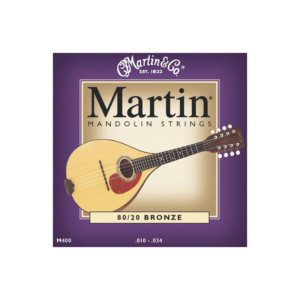 Martin M400 Mandolin Strings 80/20 Bronze .10-.34