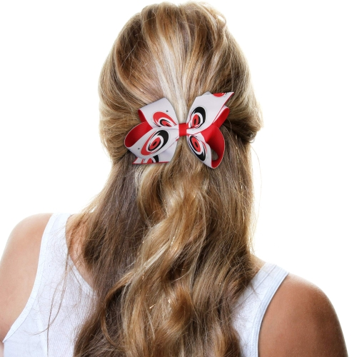 Carolina Hurricanes Two-Tone Bow - Red/White - No Size