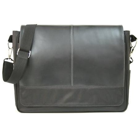 Royce Leather Black Messenger Bag