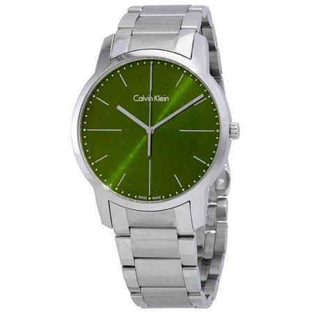 Calvin Klein City Green Dial Men's Watch K2G2G14L
