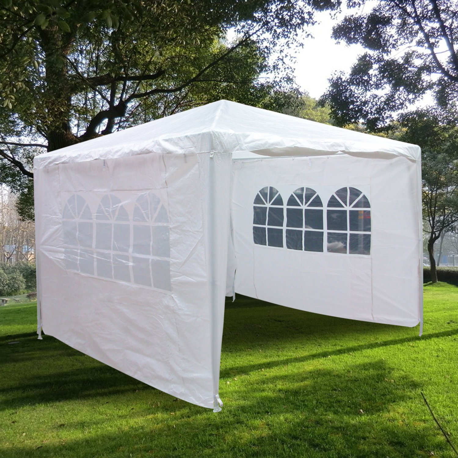 Quictent 10'x 10' Pop Up Canopy with Sidewalls Outdoor Wedding Party Shelter