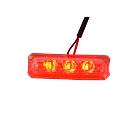 Logisys MD5RD MDLED5RD Red Clear Water Resistant 3 LED Step Light - NEW