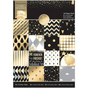 Forever Friends Single-Sided Paper Pack, A4, 32pk, Foiled Classic Decadence