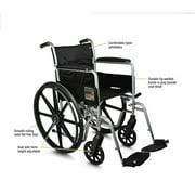"Medline K4 Basic 18"" Wheelchair, Elevating Legrests, Desk Length Arms"