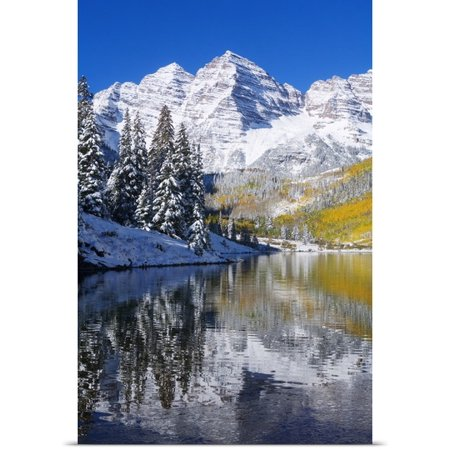 Great Big Canvas Ron Dahlquist Poster Print Entitled Colorado  Near Aspen  Landscape Of Maroon Lake And Maroon Bells