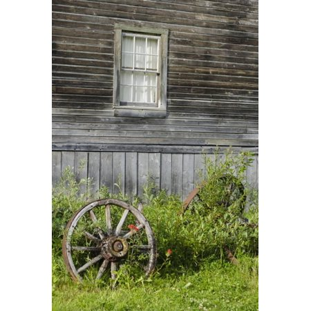 Wagon Wheel in Old Gold Town Barkersville, British Columbia, Canada Print Wall Art By Michael DeFreitas