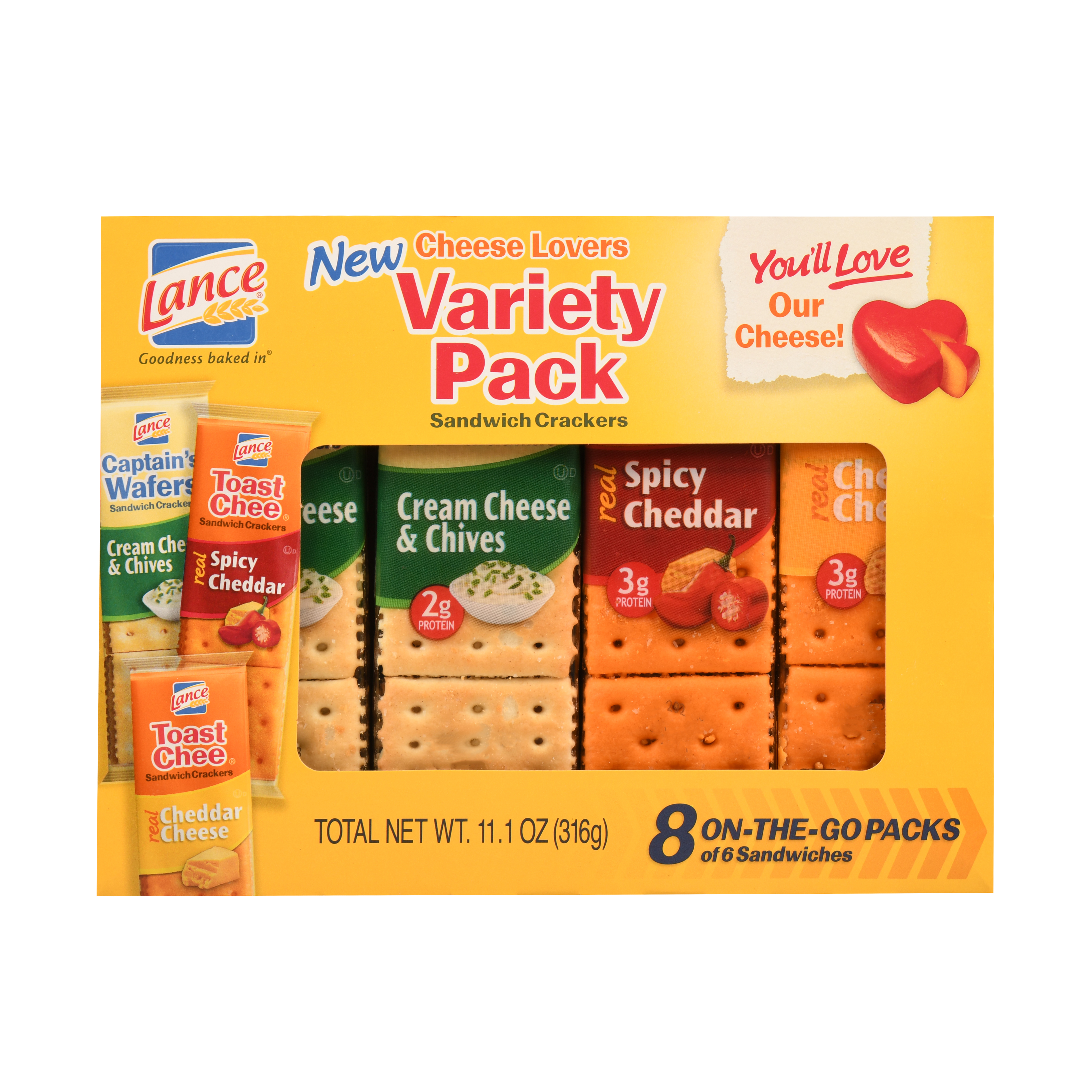 Snyders Of Hanover Lance Sandwich Crackers, 8 ea