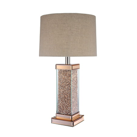 Acme Bunny Rose Gold Table Lamp With Led Light Bulb