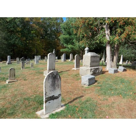 LAMINATED POSTER Cemetery Graveyard Halloween Grave Yard Yard Grave Poster Print 24 x 36](Homemade Halloween Yard Art)