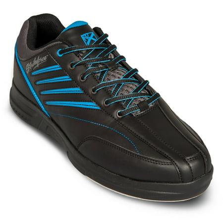 KR Strikeforce Mens Crossfire Lite Bowling Shoes- Black/Nautical Blue ()