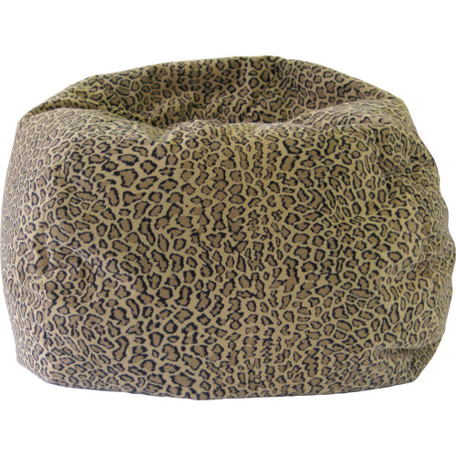 Medium/Tween Safari Micro-Fiber Suede Bean Bag