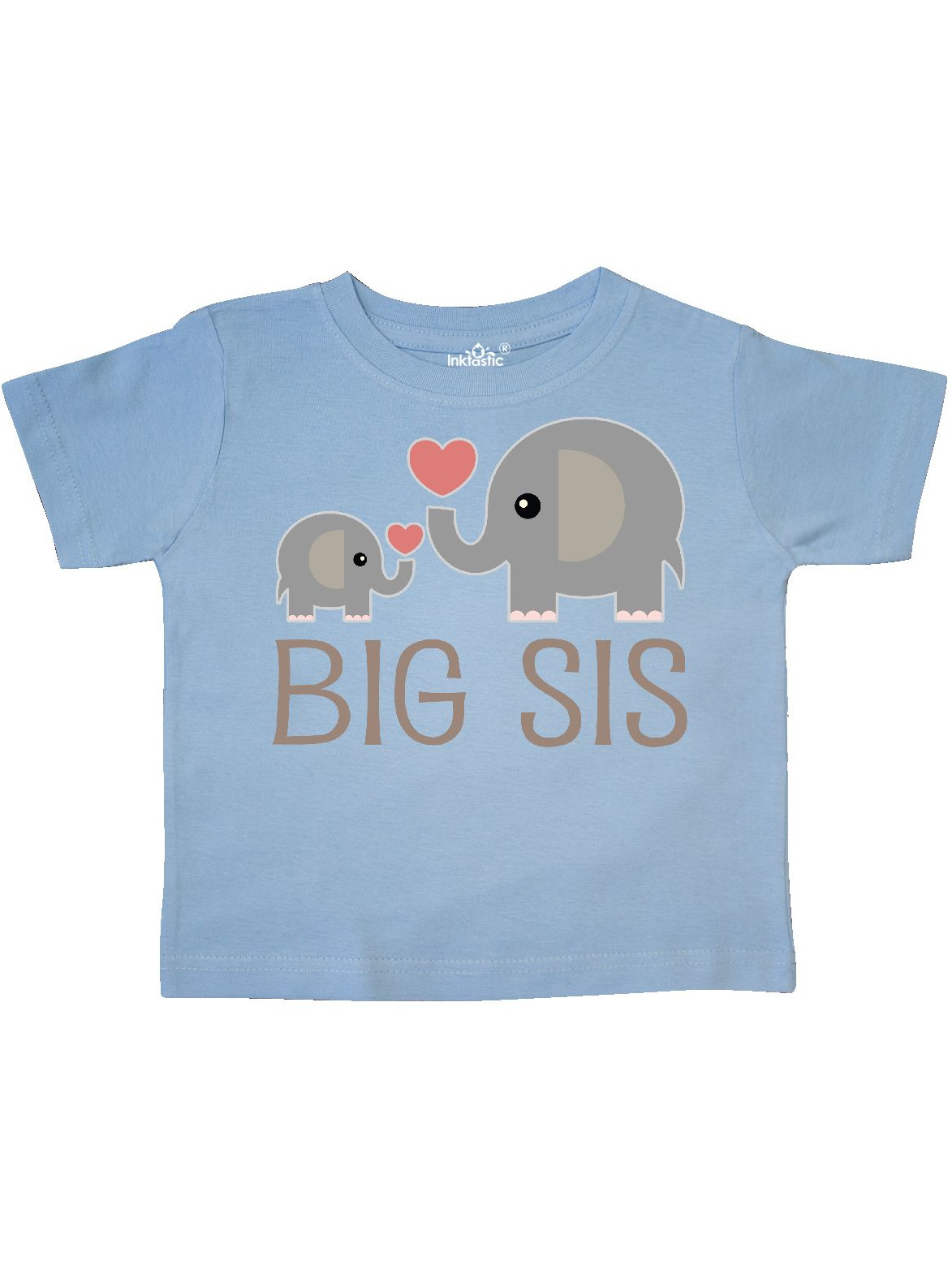 Big Sis Elephant Toddler T-Shirt