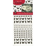 Dazzles Stickers-jewel Butterflies-black