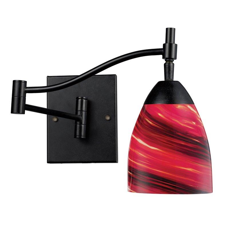 Elk Lighting 10151/1DR-A Wall Sconces , Indoor Lighting, Dark Rust / Autumn Glass