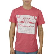 Budweiser Seal & Label Men's Red T-shirt NEW Size S