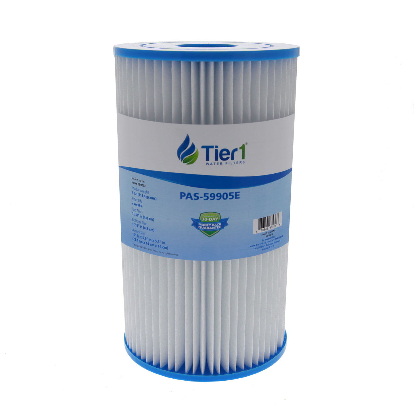 Tier1 Replacement for Type B Intex 59005E Type B Easy Set Pools Filter Pump Cartridge 6 Pack