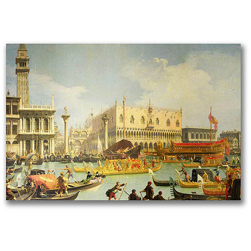 """Trademark Fine Art """"The Betrothal of the Venetian Doge"""" Canvas Wall Art by Canatello"""
