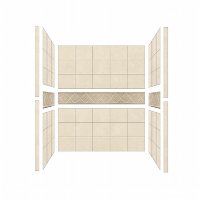 American Bath S544280FL Single 54 x 42 in. Flagstaff Walls
