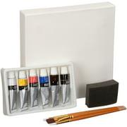 Daler-Rowney Simply Acrylic Mini Art Set Box, 10 Piece