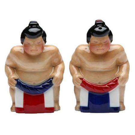 Japanese Sumo Wrestlers Salt and Pepper Shakers Set - Sumo Wrestler Kids Costume