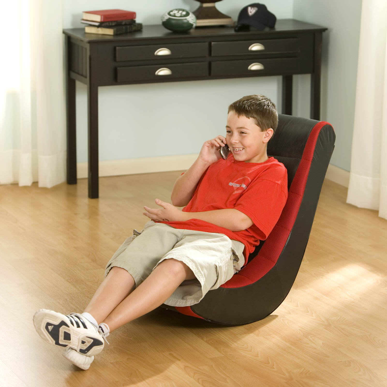 Gaming Chair For Kids Teens Video TV Movie Rocker Floor Room B/Red Portable  Boys