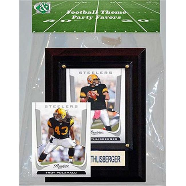 Candlcollectables 46LBSTEELERS NFL Pittsburgh Steelers Party Favor With 4 x 6 Plaque