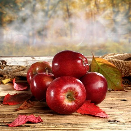 70s Backdrop (MOHome Polyester Fabric 5x7ft Apples on Floor Photography Backdrop Prop Photo)
