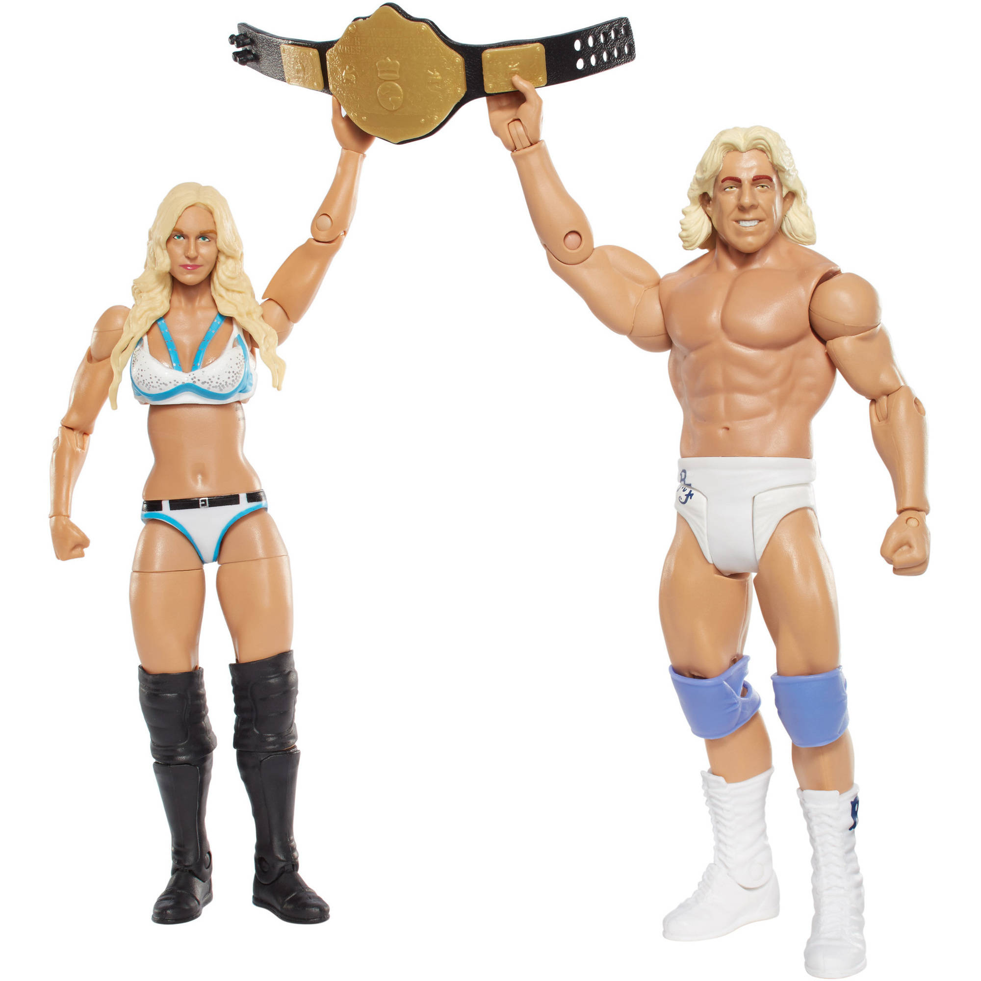 WWE Battle Pack Charlotte and Ric Flair Figure, 2-Pack
