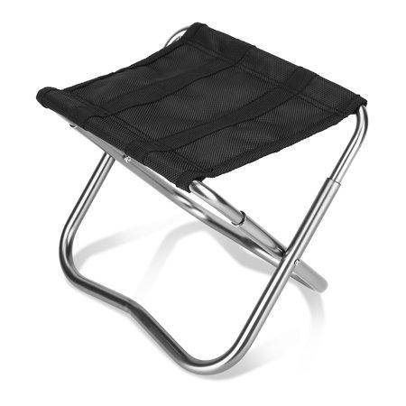 Walfront Portable Road Camping Stool Seat Tripod Stool
