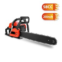 COOCHEER 58CC 3.5HPElecmall Petrol Chainsaw Cutting Wood Gasoline Chainsaw , Saw Blade, 1 Chain, Guide Sleeve And Tool Kit Elec